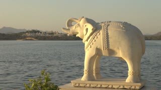 Elephant Statue and Lake View in Udaipur 5