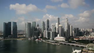 Elevated view over Singapore City Centre and Marina Bay, Singapore, South East Asia