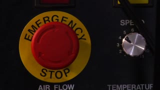 Emergency Stop Button Is Pressed