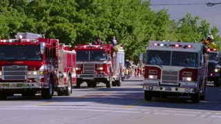 Emergency Vehicles in Parade
