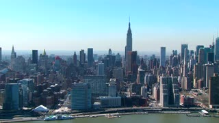 Empire State Building and Skyline Aerial View