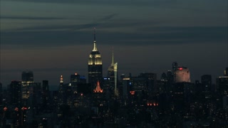 Empire State Building NYC Skyline Aerial