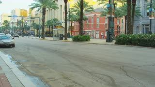 Empty Boulevard In New Orleans, Louisiana