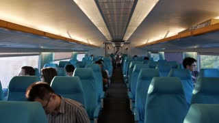 Empty Commuter Train in China