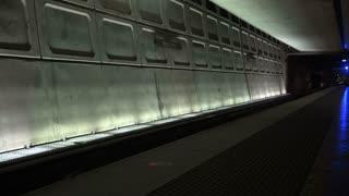 Empty Metro Station Platform