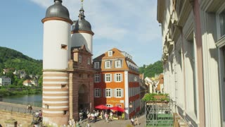 End of Old Bridge Heidelberg Germany
