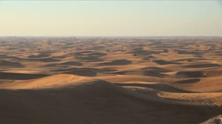Endless Desert In United Arab Emirates