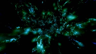 Energy blue green cosmic loop animation