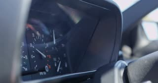 Engine Rev Makes RPM's Jump in Tachometer Close Up 4K