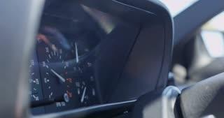 Engine Rev Makes RPM's Jump in Tachometer Close Up 4K