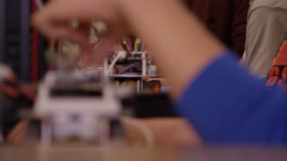 Engineering students - robotics