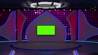 Entertainment TV Studio Set 01 - Virtual Green Screen Background Loop