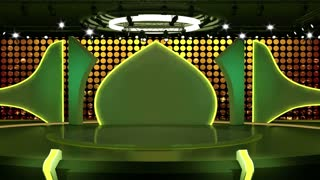 Entertainment TV Studio Set 03 - Virtual Green Screen Background Loop