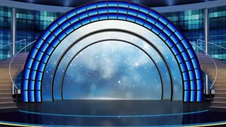 Entertainment TV Studio Set 07 - Virtual Green Screen Background Loop