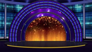 Entertainment TV Studio Set 08 - Virtual Green Screen Background Loop
