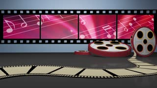 Entertainment TV Studio Set 10 - Virtual Green Screen Background Loop