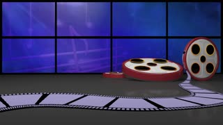 Entertainment TV Studio Set 11 - Virtual Green Screen Background Loop