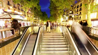 Escalator Evening Timelapse