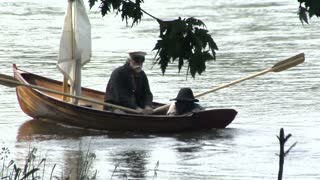 escaped slave stow away on small rowboat with captain