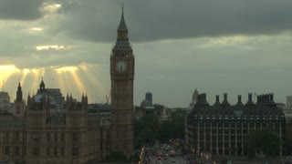 Ethereal Sun Beams Behind Big Ben