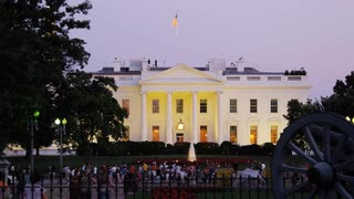 Evening White House Grounds