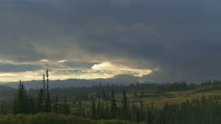 Evolving Clouds Over Alaskan Forest