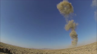 Explosion by Air Force Explosive Ordinance Disposal technicians