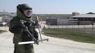 Explosive Ordinance Disposal Company performed remote entry procedures