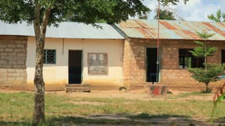 Exterior Shot of a School in Kenya