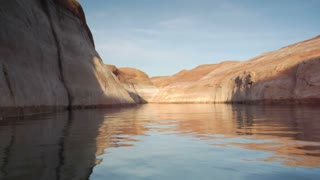 Extreme Slow-motion Lake Powell Canyons Utah One