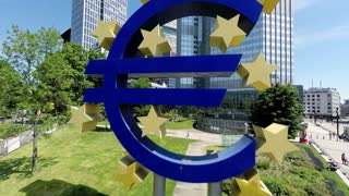 ezb. eu. euro sign. european central bank. euro symbol. for editorial use only
