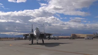 F-15E Strike Eagle taxing out for a mission at Red Flag