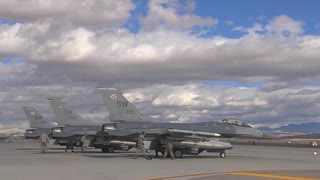F-16 Fighting Falcon's on the flight line at Red Flag
