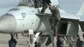 F/A-18 and F-16 pilots participate in Top Gun jet fighter training