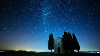 Fabulous Starry Sky. Time Lapse 4K