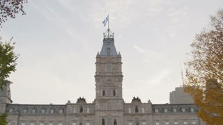 Facade of Parliament Building in Quebec