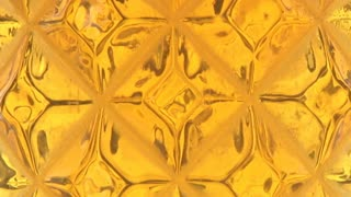 Faceted Beer Bubbles Slow Motion