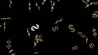 Falling American Money Symbols