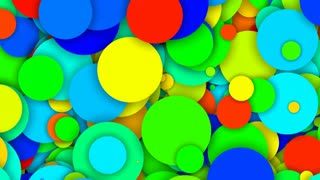 Falling Colored Circles
