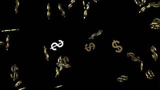 Falling Dollar Symbol
