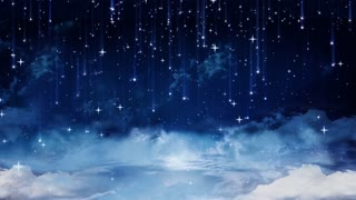 Falling Stars and Clouds Background