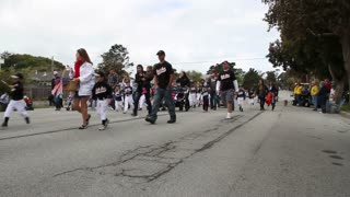 Families With Children Walk In Parade