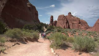 Family Hiking In Arches National Park Utah