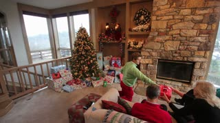 Family Opening Presents Timelapse