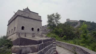 Family Walks to Tower on Great Wall of China
