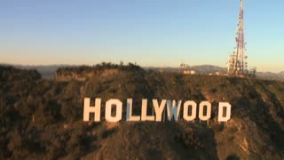 Famous Hollywood Sign Aerial View