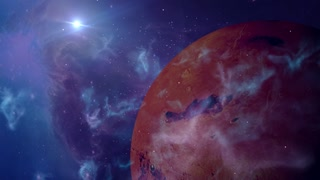 fantasy alien planet in outer space sci-fi background