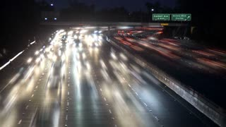 Fast LA Headlights Traffic Timelapse