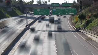Fast Motion LA Traffic