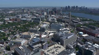 Fast-moving Tracking Shot Over Mit And Cambridge, Massachusetts